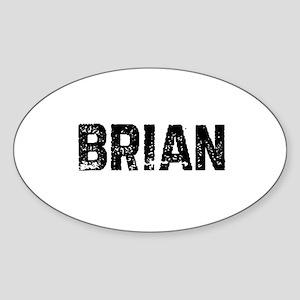 Brian Oval Sticker