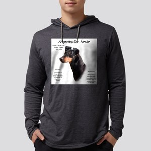 Manchester Terrier Mens Hooded Shirt