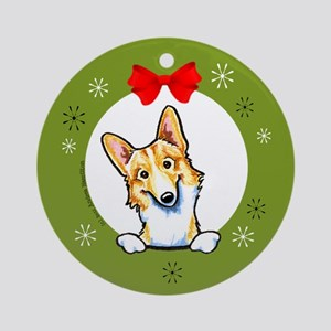 Corgi Fawn/White Lover GIft Christmas Ornament