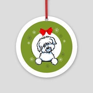 Coton de Tulear Christmas Ornament (Round)