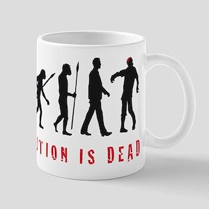 evolution of man zombie walking dead Mugs