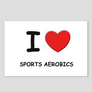 I love sports aerobics  Postcards (Package of 8)