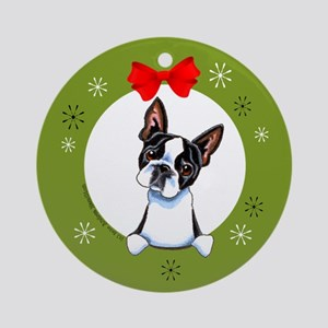 Boston Terrier Lover Gift Christmas Ornament