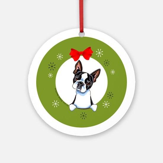 Boston Terrier Lover Gift Christmas Ornament