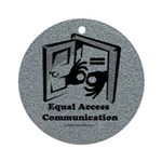 Equal Access Communication Ornament (Round)