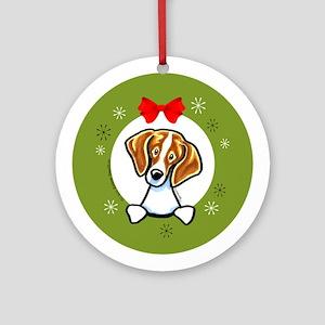 Beagle Christmas Ornament (Round)