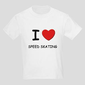 I love speed skating Kids Light T-Shirt
