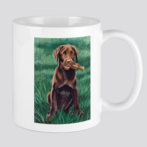 Chocolate Labrador Puppy Mug