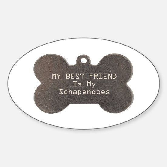 Schapendoes Friend Oval Decal