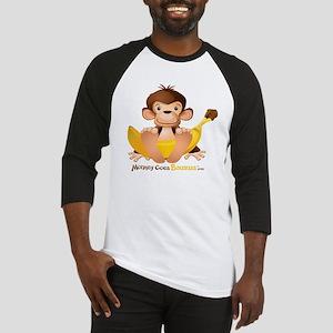 MGB - Monkey Sitting holding Giant Baseball Jersey