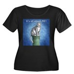 All About Me Women's Plus Size Scoop Neck Dark T-S