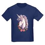 Unicorn Cameo Kids Dark T-Shirt