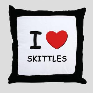 I love skittles  Throw Pillow