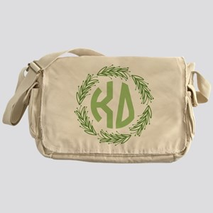 Kappa Delta Letters Wreath Messenger Bag