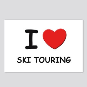 I love ski touring  Postcards (Package of 8)