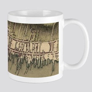 Vintage Map of Newport Rhode Island (1777) Mugs