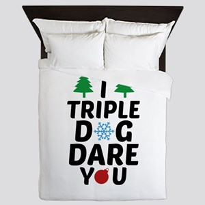 I Triple Dog Dare You Queen Duvet