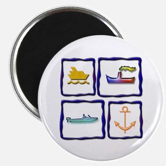 "Nautical Fun 2.25"" Magnet (10 pack)"