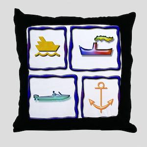 Nautical Fun Throw Pillow