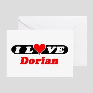I Love Dorian Greeting Cards (Pk of 10)