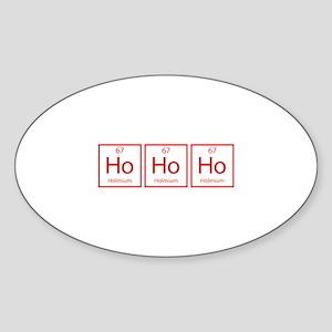Ho Ho Ho Sticker (Oval)