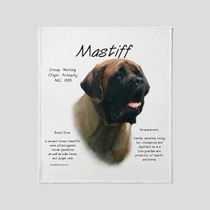 Mastiff (apricot) Throw Blanket