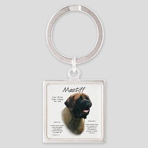 Mastiff (apricot) Square Keychain