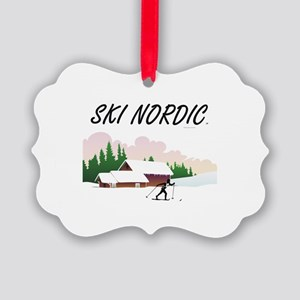 Ski Nordic Picture Ornament