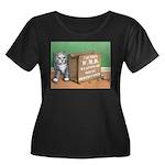 WMD Women's Plus Size Scoop Neck Dark T-Shirt