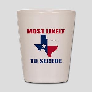 Texas Secession Shot Glass