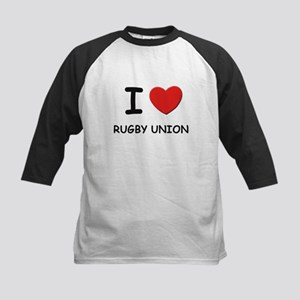 I love rugby union Kids Baseball Jersey