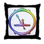 Paddling Kayak Throw Pillow