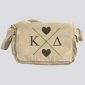 Kappa Delta Letters Cross Messenger Bag