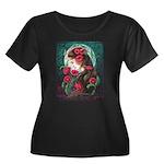 Serenity Women's Plus Size Scoop Neck Dark T-Shirt