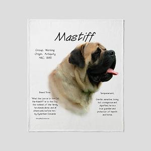 Mastiff (fawn) Throw Blanket