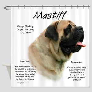 Mastiff (fawn) Shower Curtain