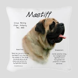 Mastiff (fawn) Woven Throw Pillow