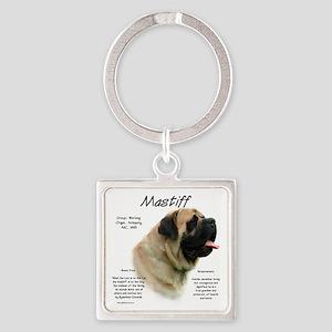 Mastiff (fawn) Square Keychain