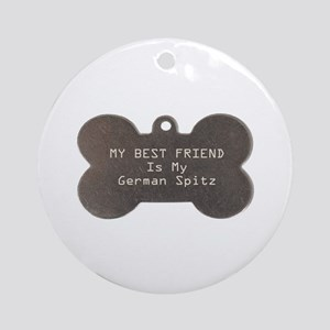 Spitz Friend Ornament (Round)