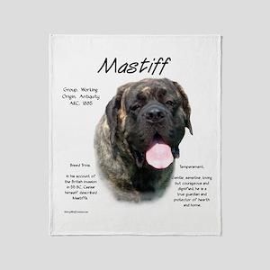 Mastiff (fawn brindle) Throw Blanket
