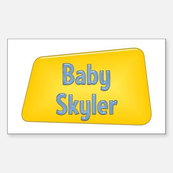 Baby Skyler Rectangle Decal