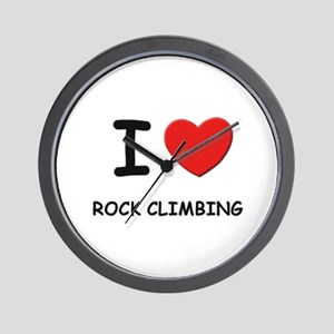 I love rock climbing  Wall Clock