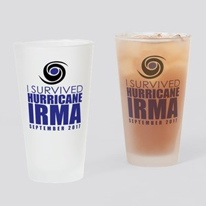 I Survived Hurricane Irma Drinking Glass