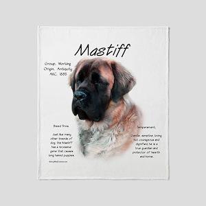 Mastiff (apricot fluff) Throw Blanket