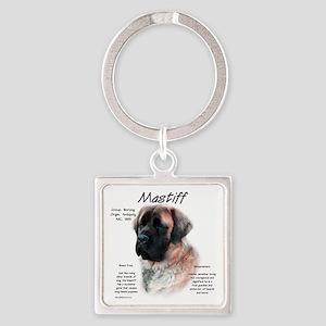 Mastiff (apricot fluff) Square Keychain