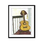 German Guitar Framed Panel Print