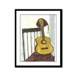 German Guitar Framed Panel Print