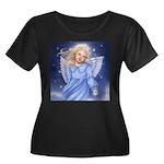 Angel of the Air Women's Plus Size Scoop Neck Dark