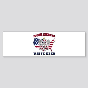 White Deer Texas Polish Sticker (Bumper)