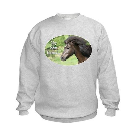 Icelandic horse Kids Sweatshirt